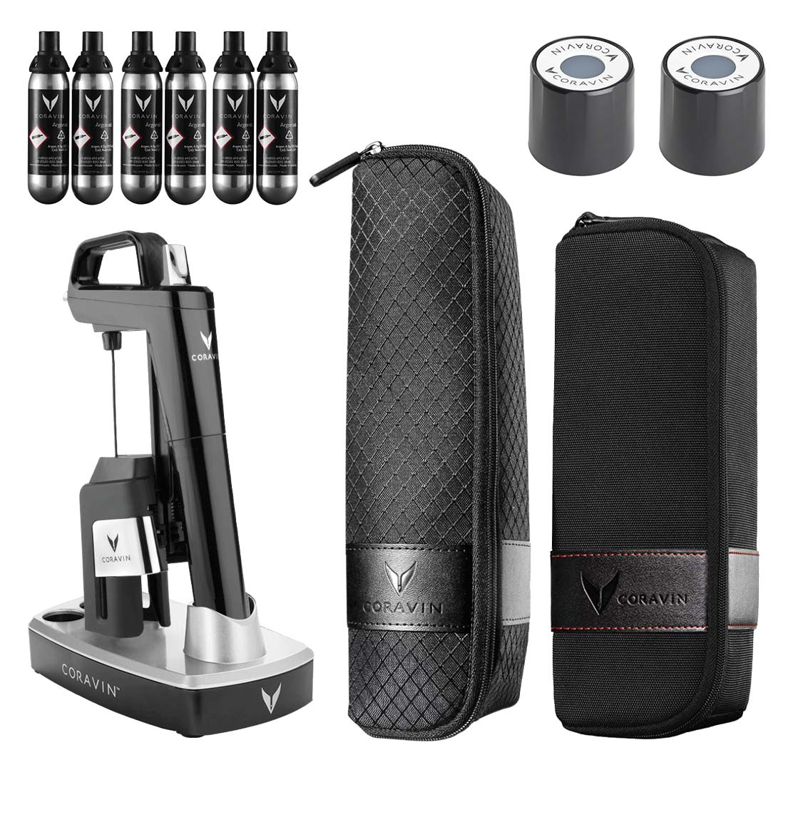 Coravin Model Six Piano Black Wine Gift Set