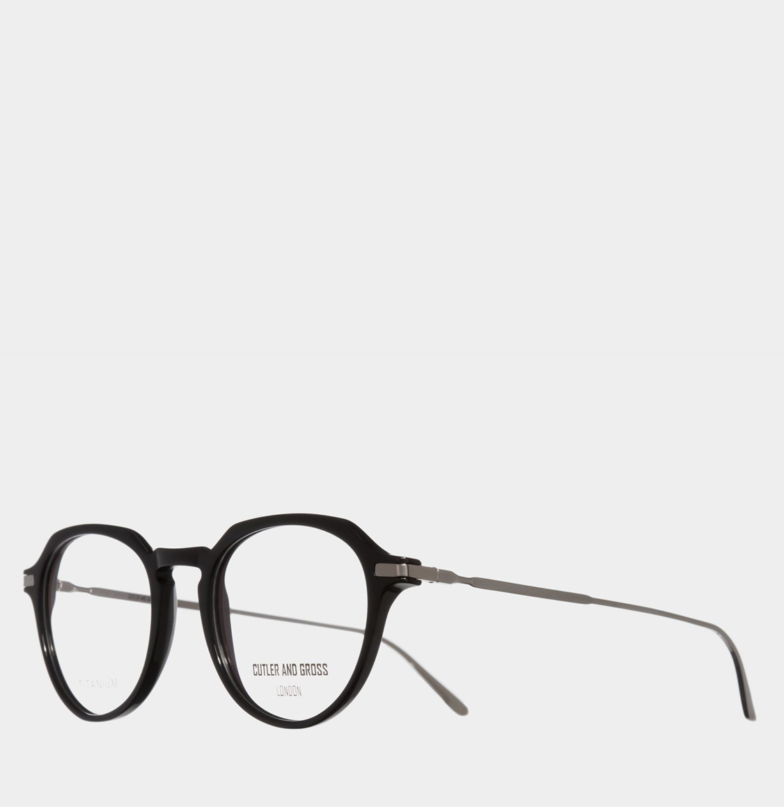 Cutler and Gross Round-Frame 1303 Black Optical Glasses