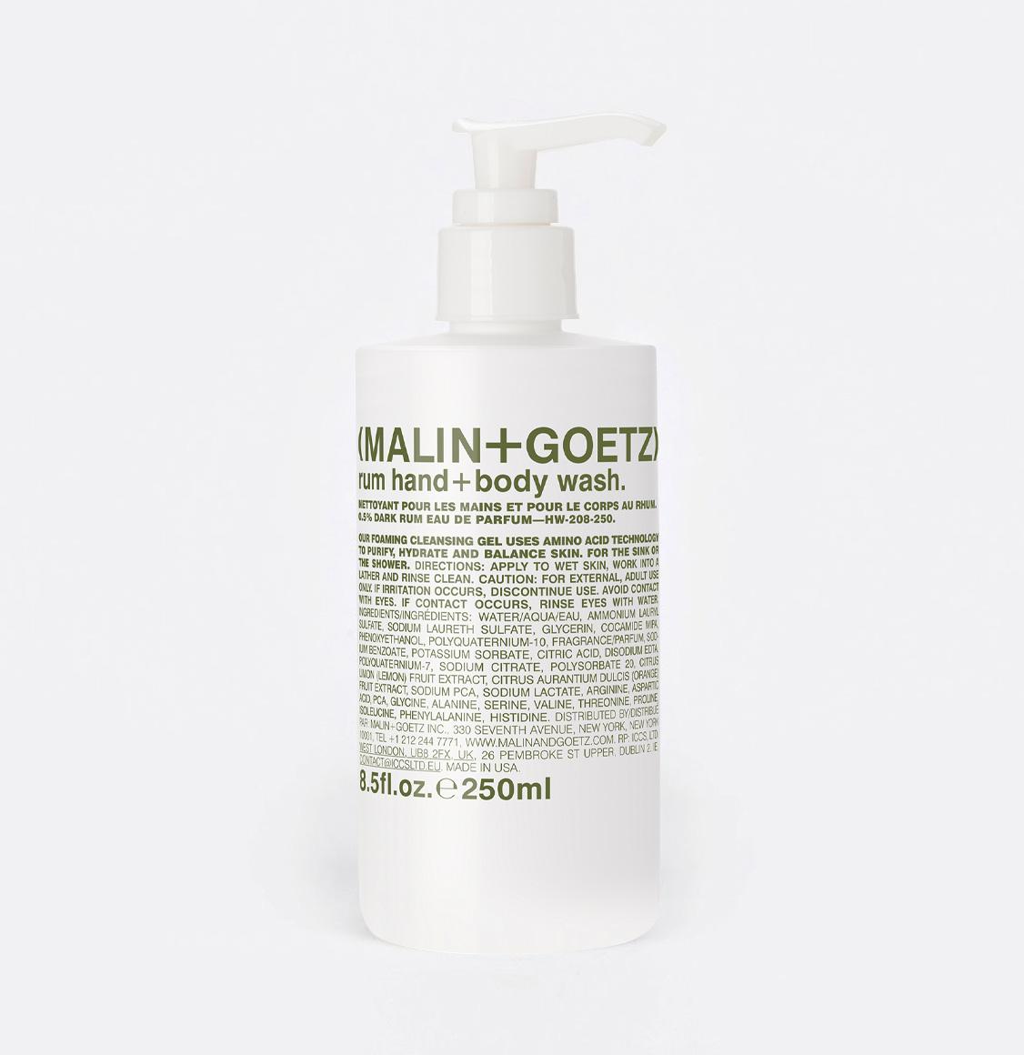 Malin and Goetz Rum Body Wash 250ml