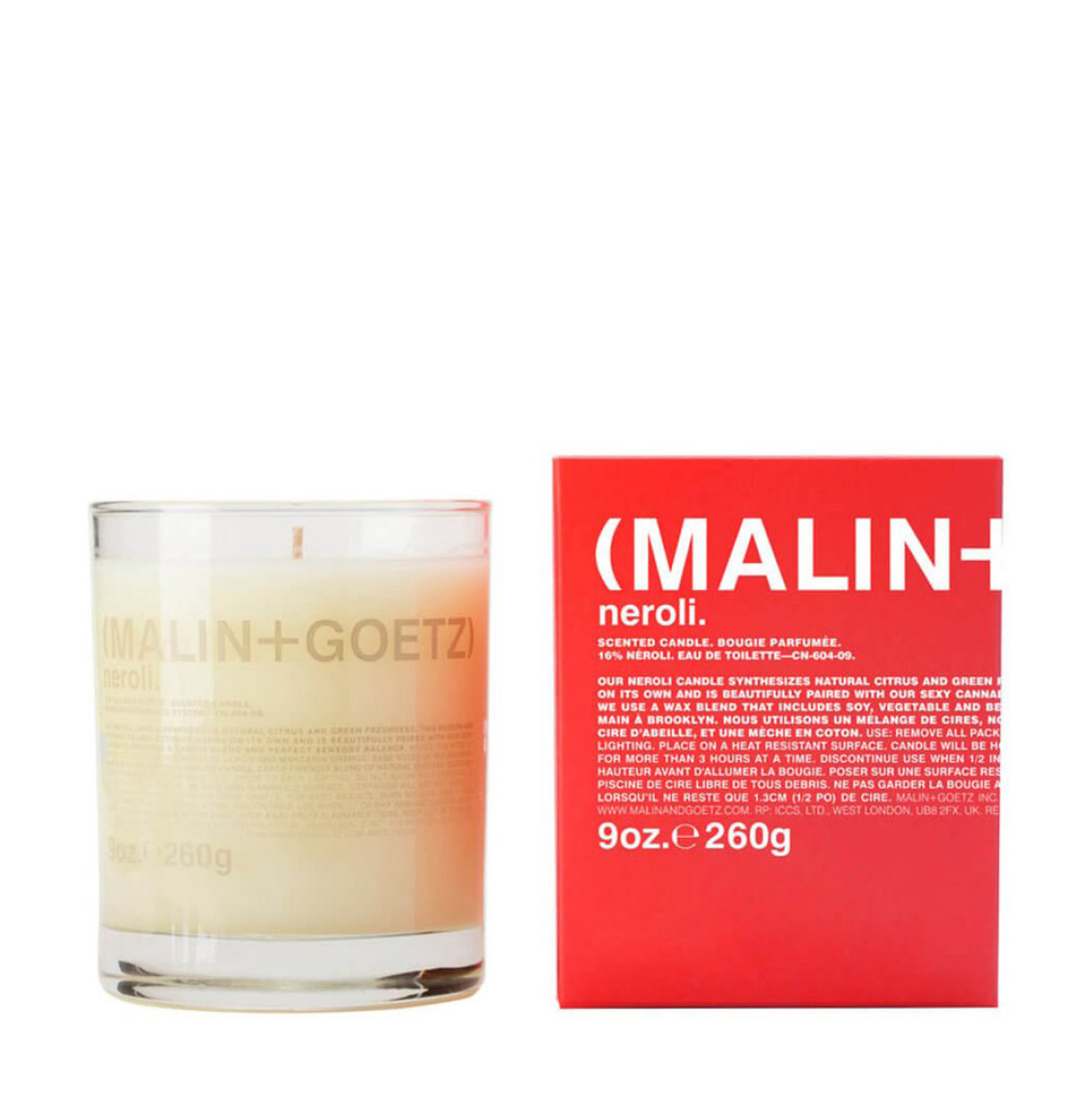 Malin And Goetz Neroli Candle 260g