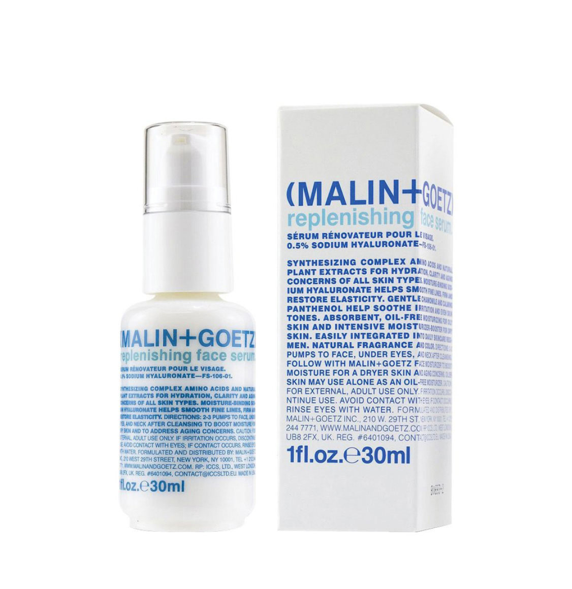 Malin and Goetz Replenishing Face Serum 30ml