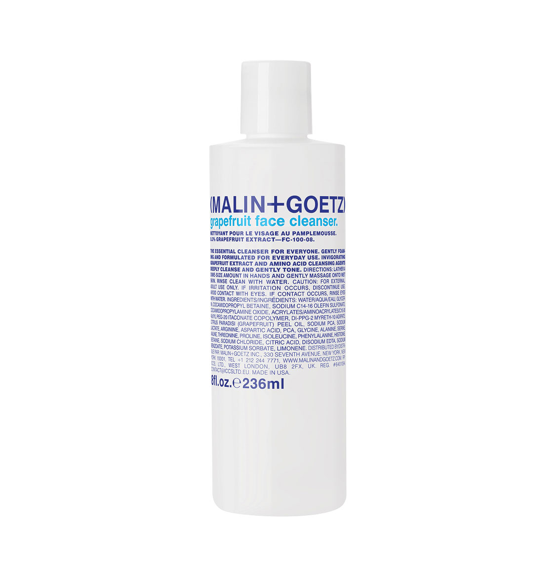Malin and Goetz Grapefruit Face Cleanser 236ml