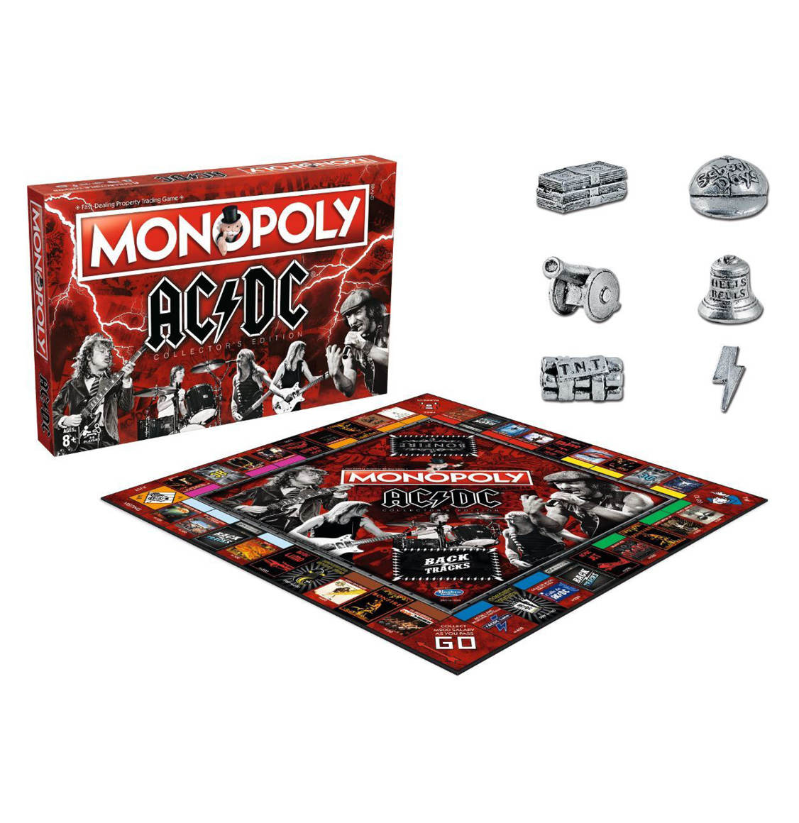 Monopoly ACDC Winning Moves English AC/DC Collector's Edition