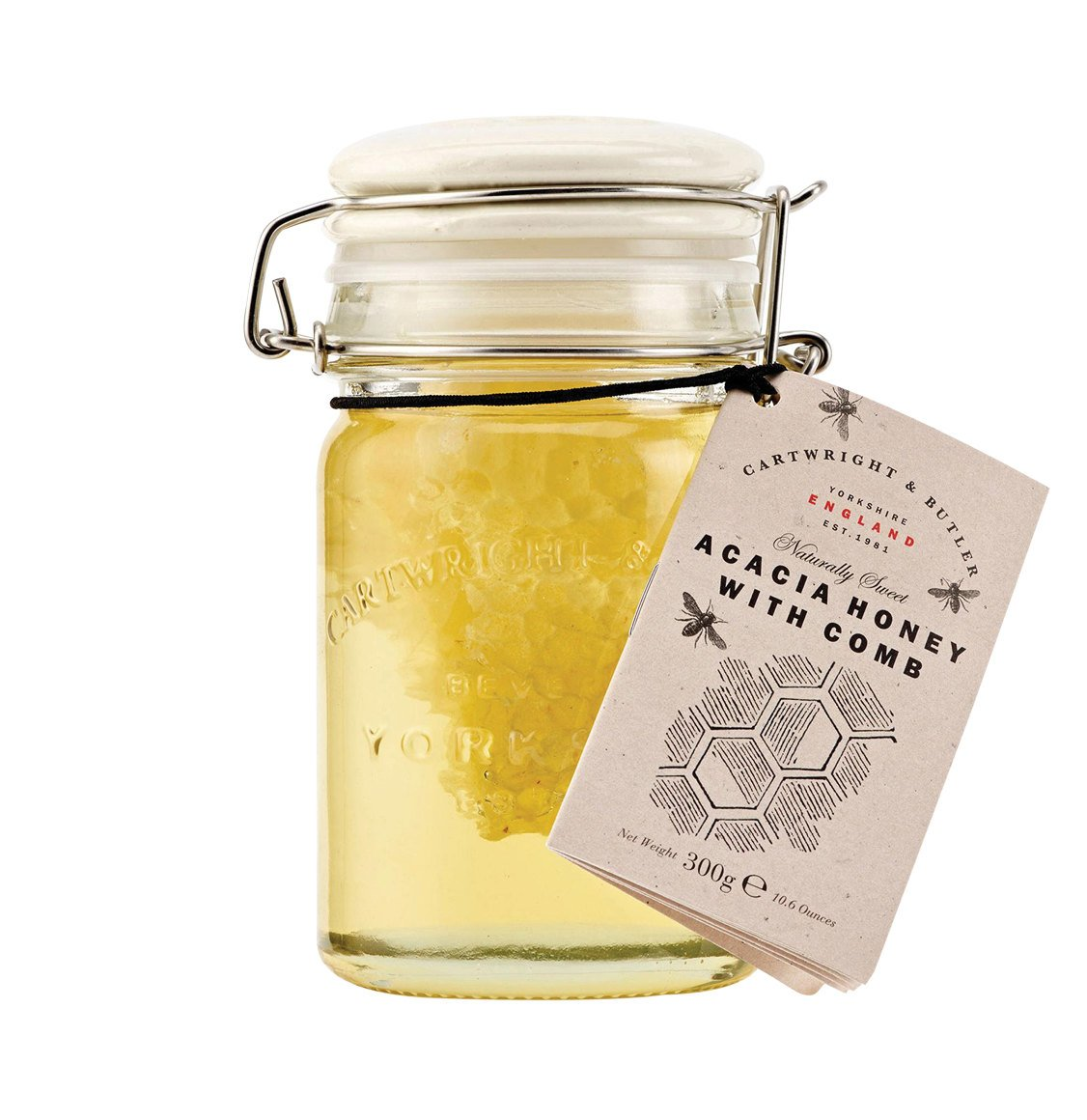 Cartwright and Butler Acacia Honey With Comb 300g