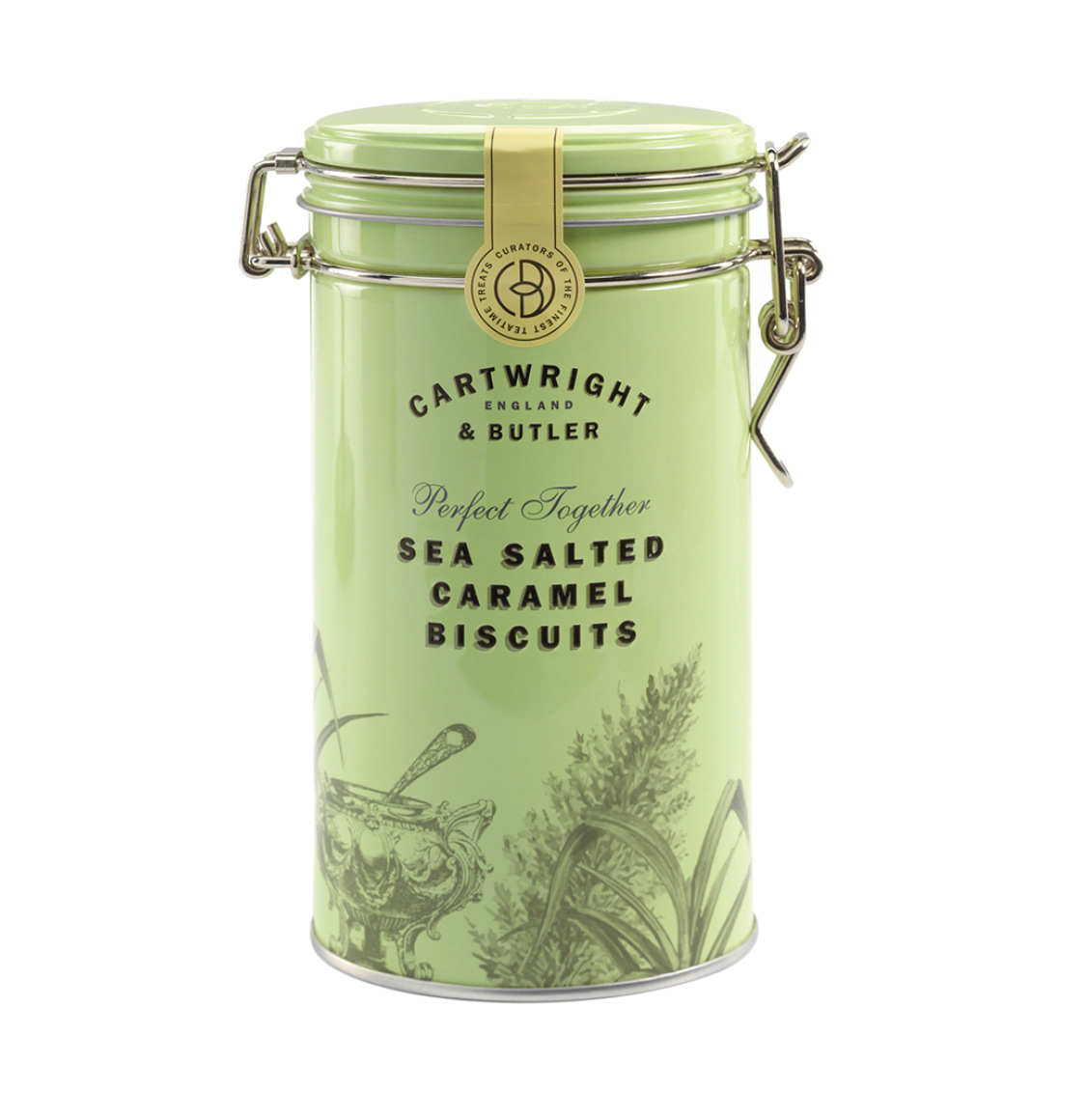 Cartwright and Butler Salted Caramel Biscuits in Tin 200g