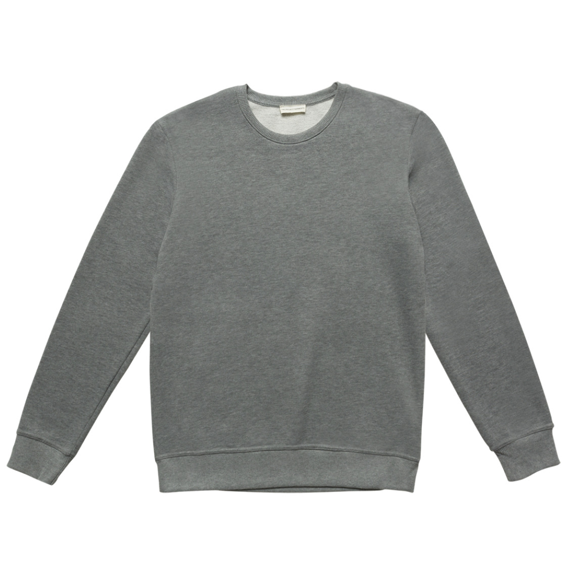 Crew Neck Sweatshirt Melange Grey