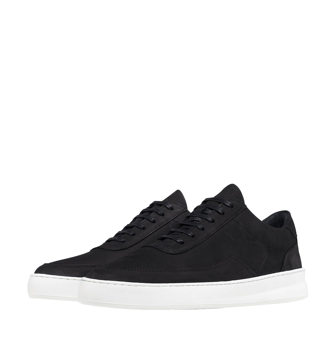 Filling Pieces Low Mondo Plain Nardo Nubuck Black