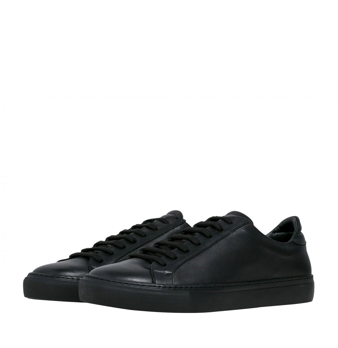 Garment Project Type Black | Black Leather Sneakers