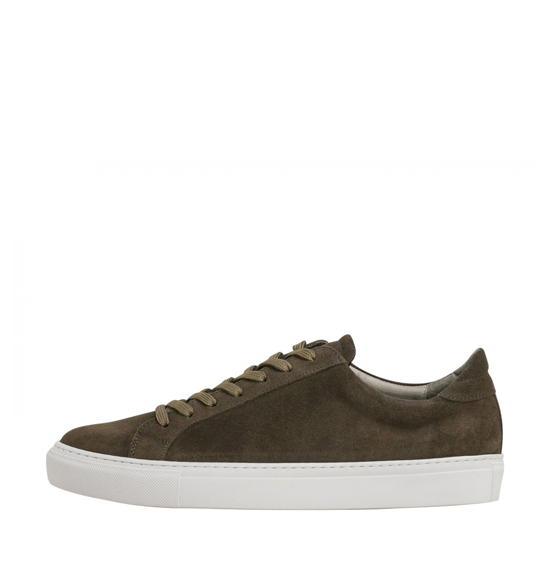 Garment Project Type Waxed Taupe Leather Sneakers