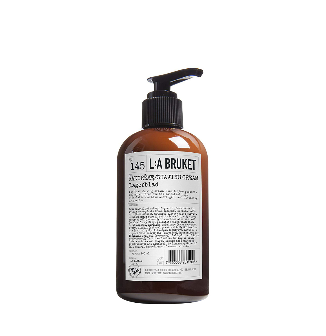 LA Bruket 145 Shaving Cream Laurel Leaf 200ml