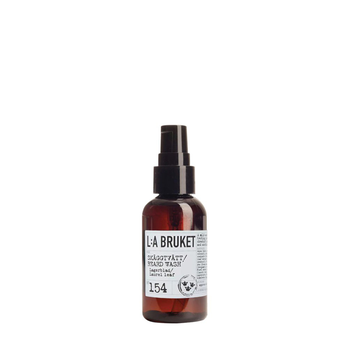 LA Bruket 154 Beard Wash Laurel Leaf 60ml