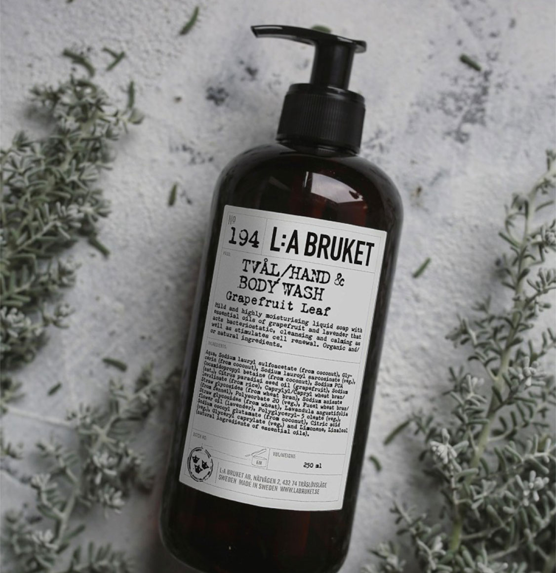 LA Bruket Hand and Body Wash Grapefruit Leaf 250ml