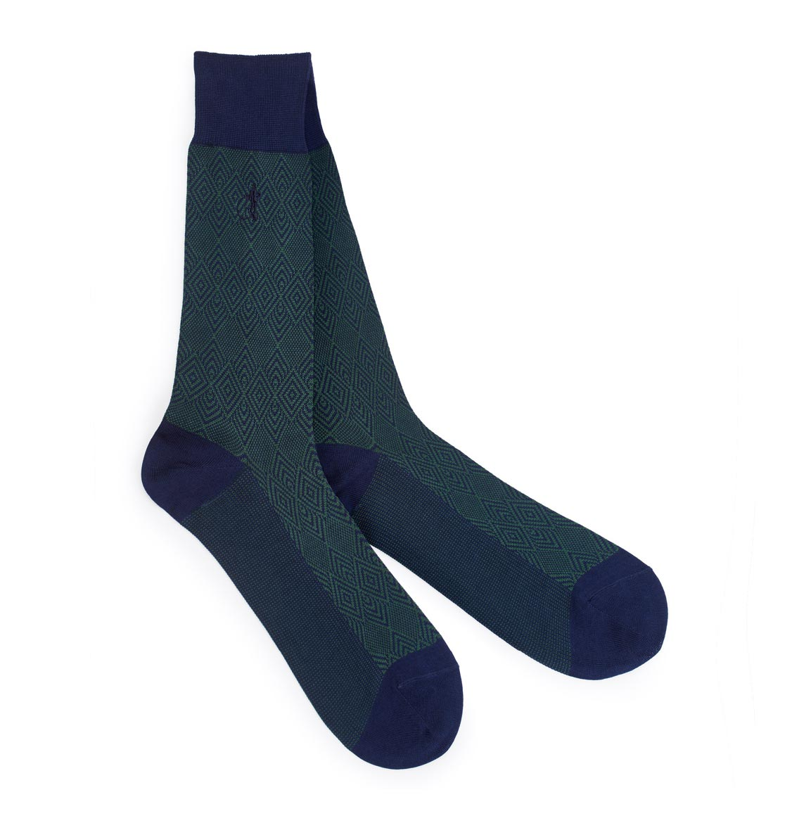 London Sock Co Jacquard Vert