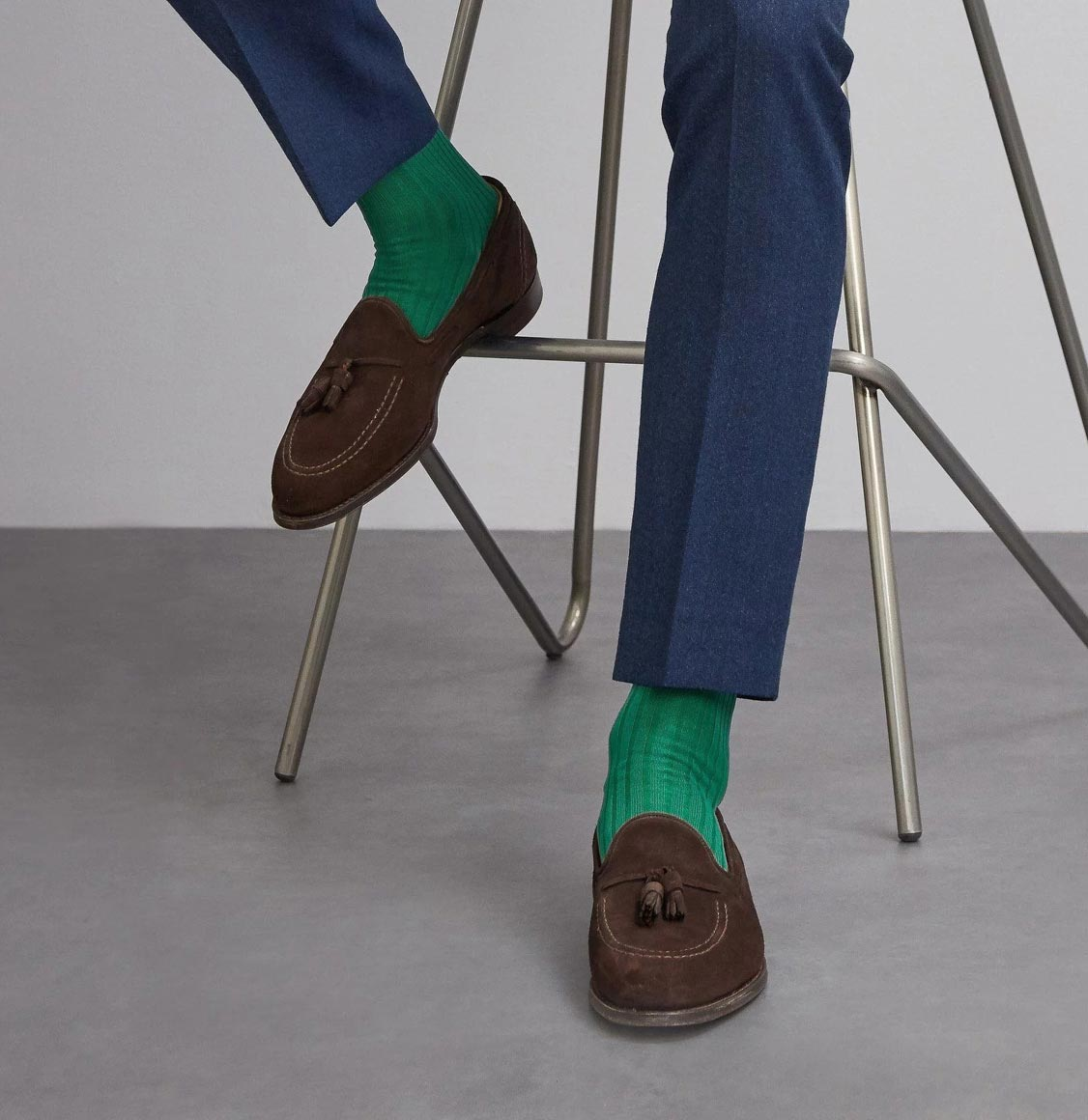 London Sock Co Simply Sartorial Socks Masters Green