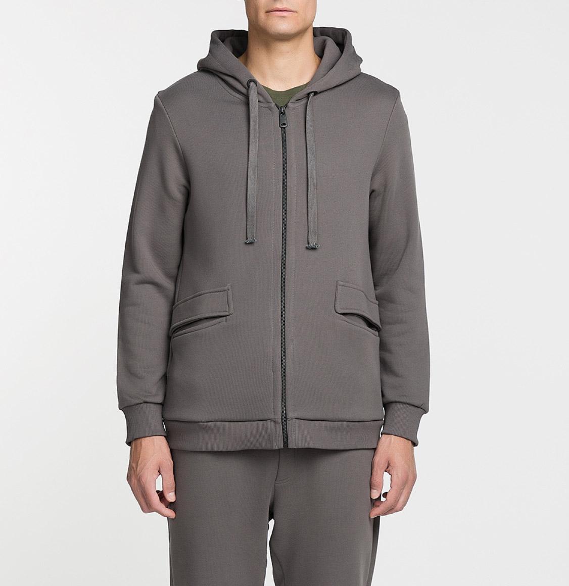 Organic Cotton-Jersey Hoodie Moonrock Grey