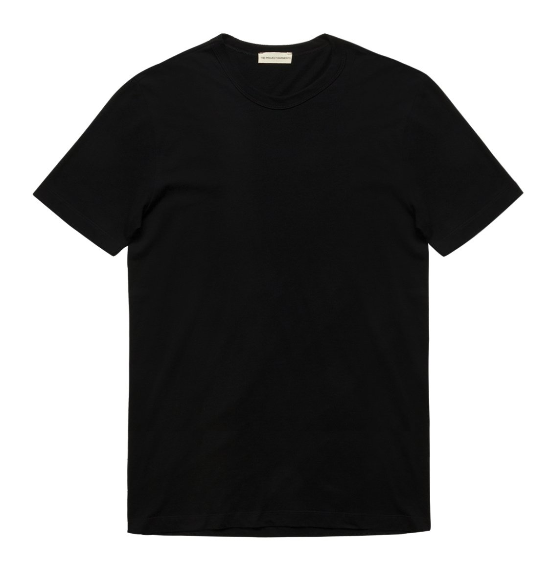The Project Garments Crewneck Regular Fit Organic Cotton T-shirt Black