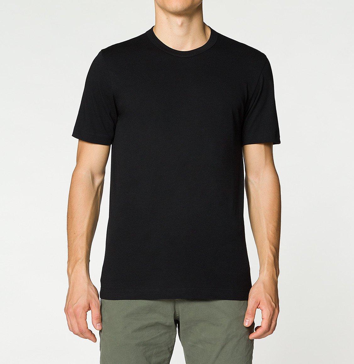 The Project Garments Crewneck Regular Fit Organic Cotton T-shirt Black