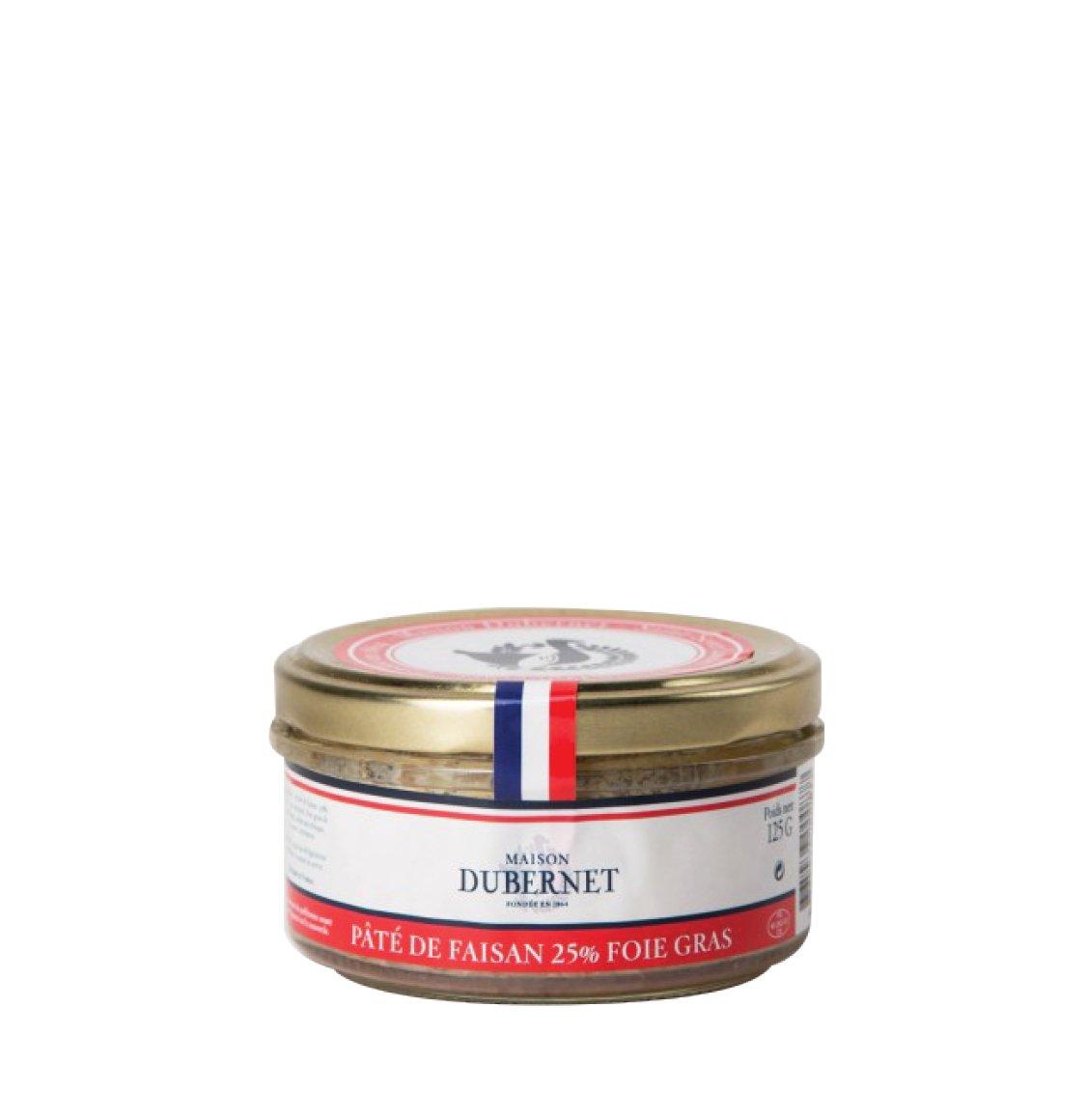 Maison Dubernet Pheasant Pate with Foie Gras 125g