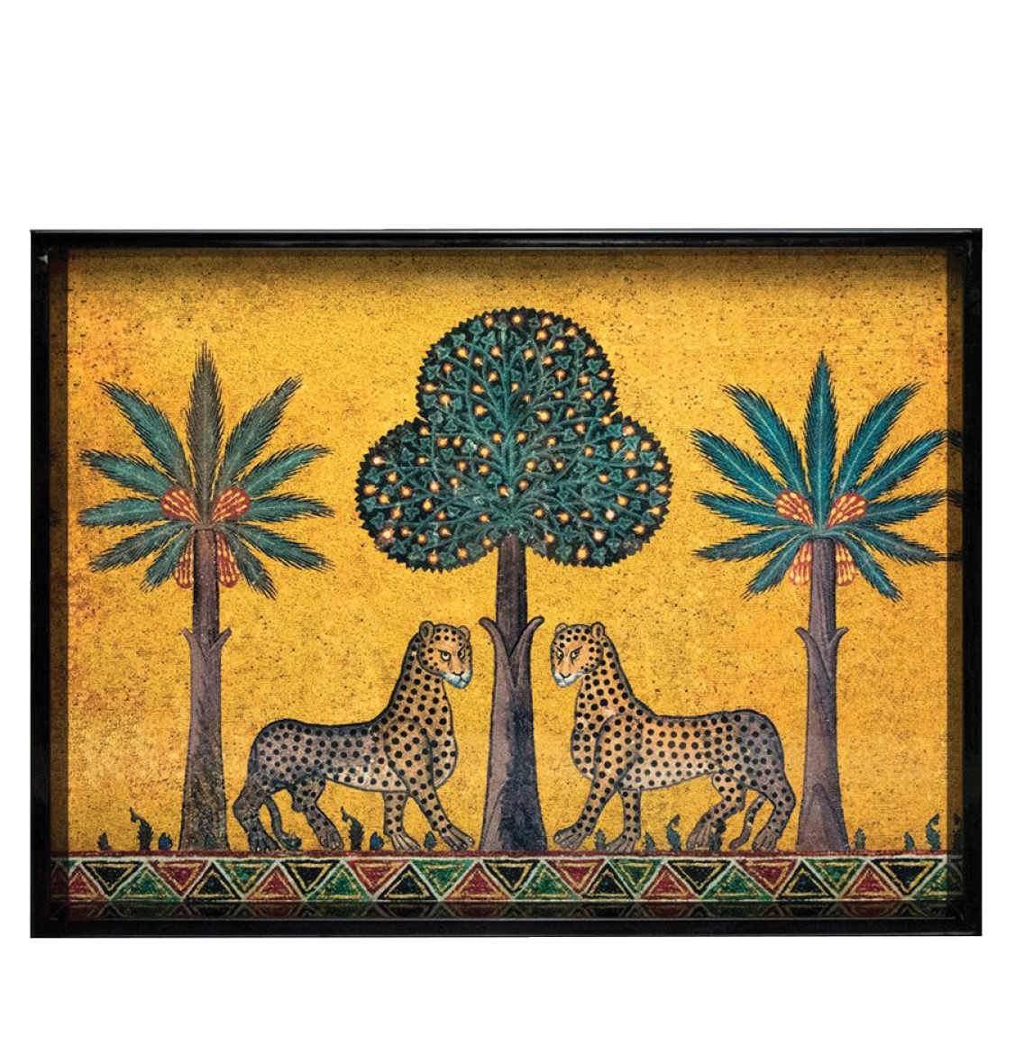 Ortigia Sicilia Hand-Made High-shine Lacquered Wood Tray Zagara