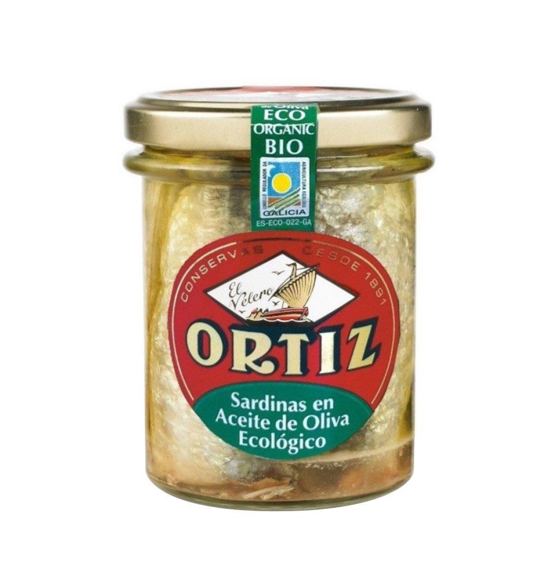 Ortiz Sardines in Organic Bio Olive Oil 190g
