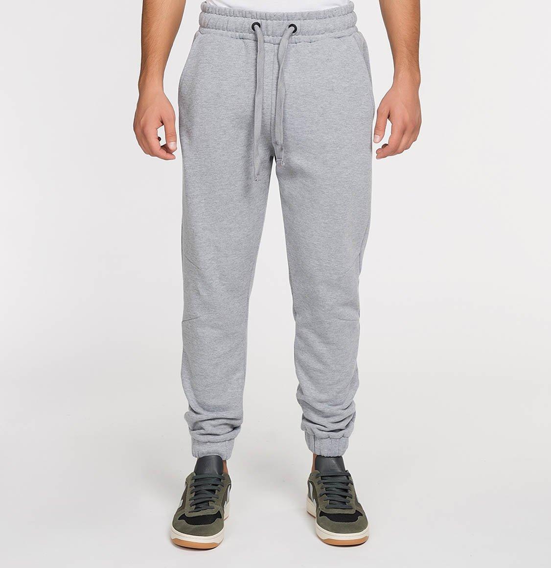 The Project Garments Regular Fit Cotton Sweatpants Melange Grey