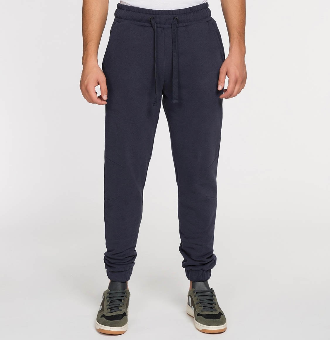 The Project Garments Regular Fit Cotton Sweatpants Navy Blue