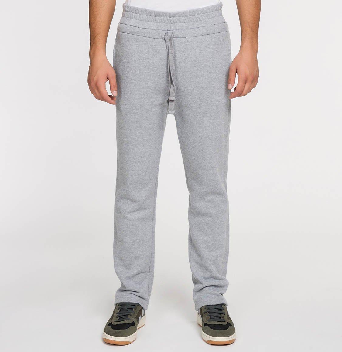 The Project Garments Regular Fit Cotton Drawstring Sweatpants Melange Grey