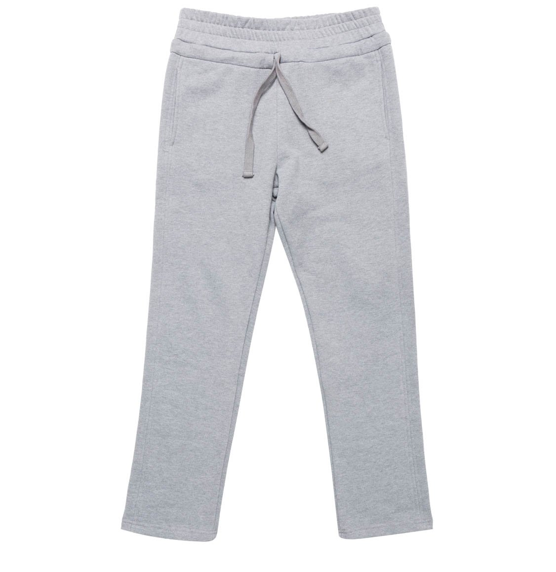 The Project Garments Regular Fit Cotton Drawstring Sweatpants Melange Grey