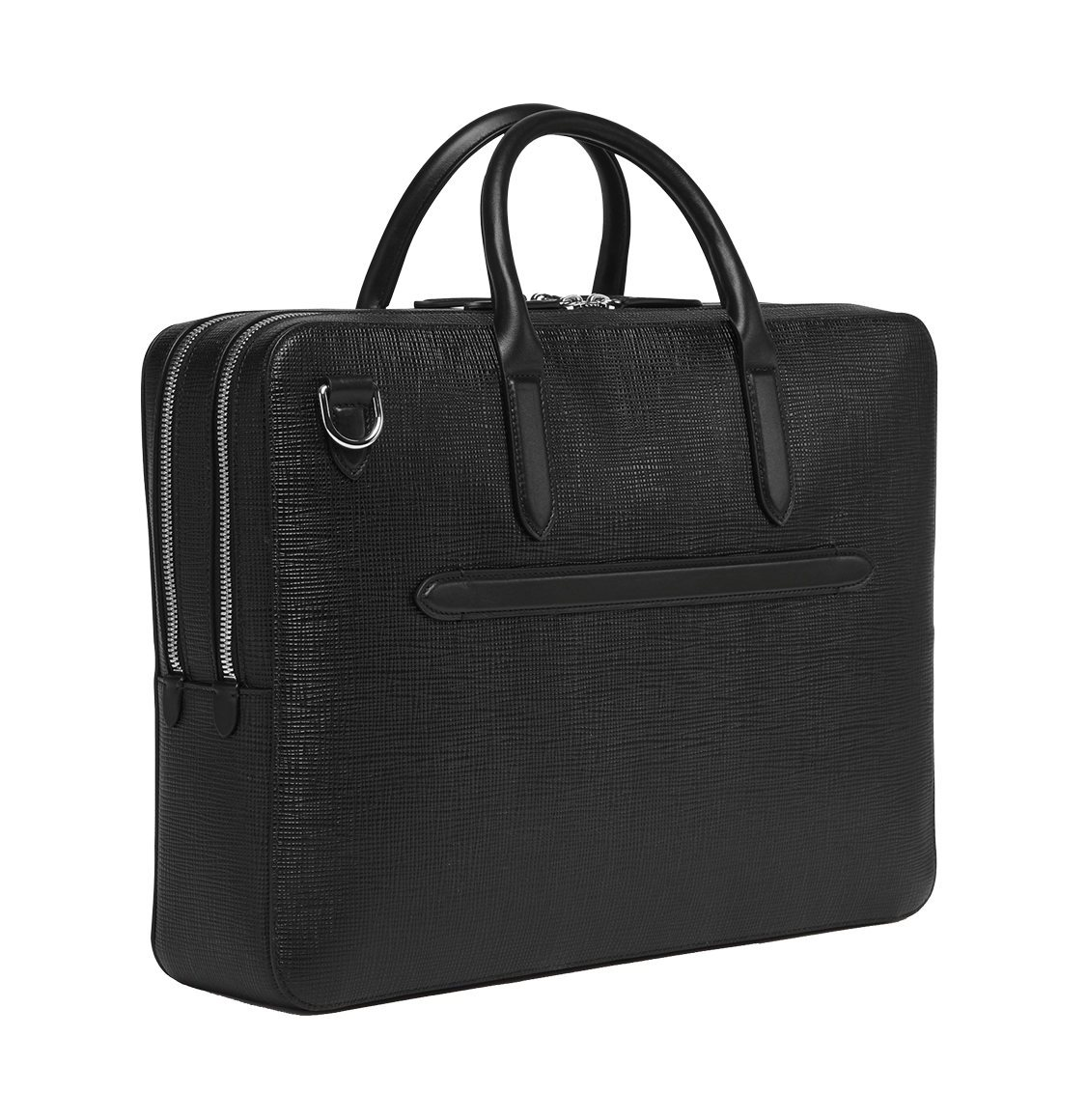 Smythson Panama Large Briefcase Black