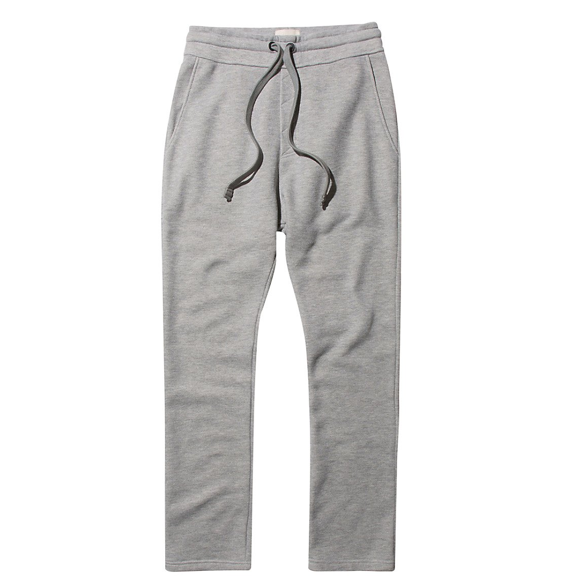 Tapered Loose-Fit Organic Cotton Sweatpants Melange Grey