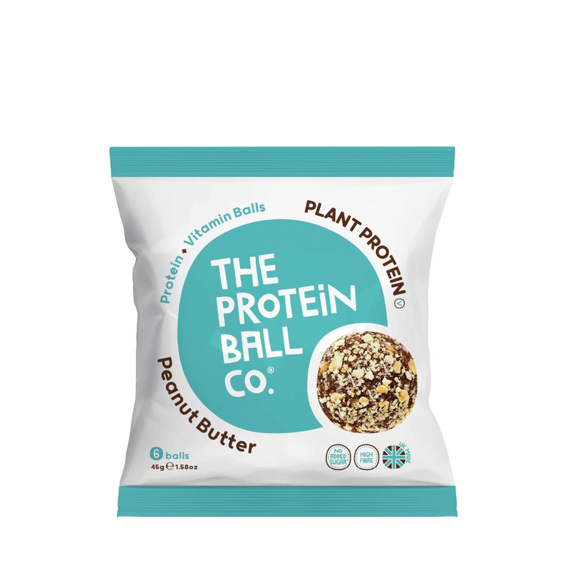 The Protein Ball Co. Peanut Butter Plant Protein Vegan Balls 45g