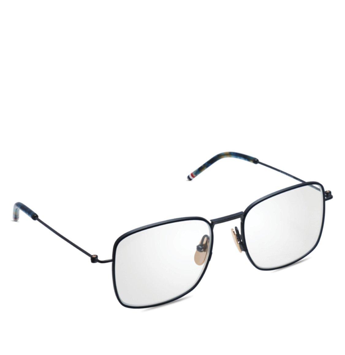 Thom Browne Black Iron And Navy Square-Frame Optical Glasses Γυαλιά Οράσεως