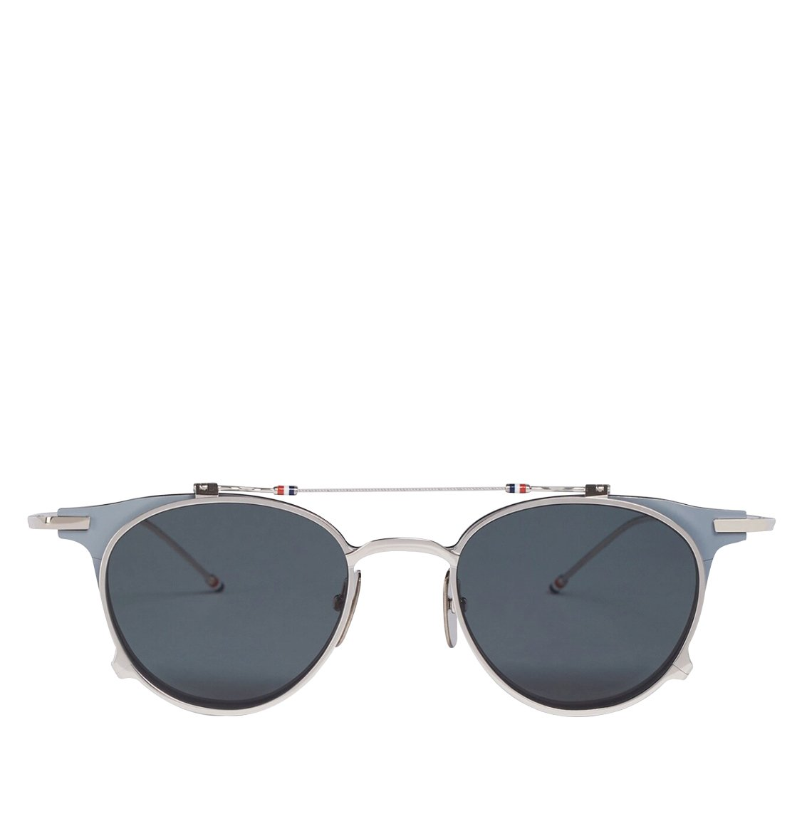 Thom Browne Flip-Up Double Round Frame Matte Cool Grey Sunglasses Γυαλιά Ηλίου