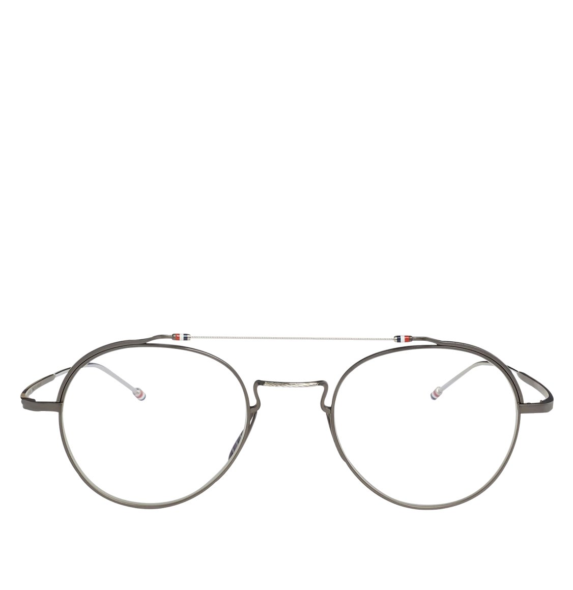 Thom Browne Black Iron And Silver Oval Optical Glasses Γυαλιά Οράσεως