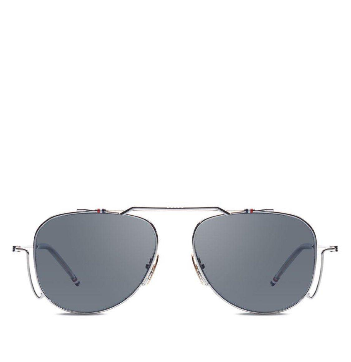 Thom Browne 56 Silver White Gold Aviator Sunglasses Γυαλιά Ηλίου