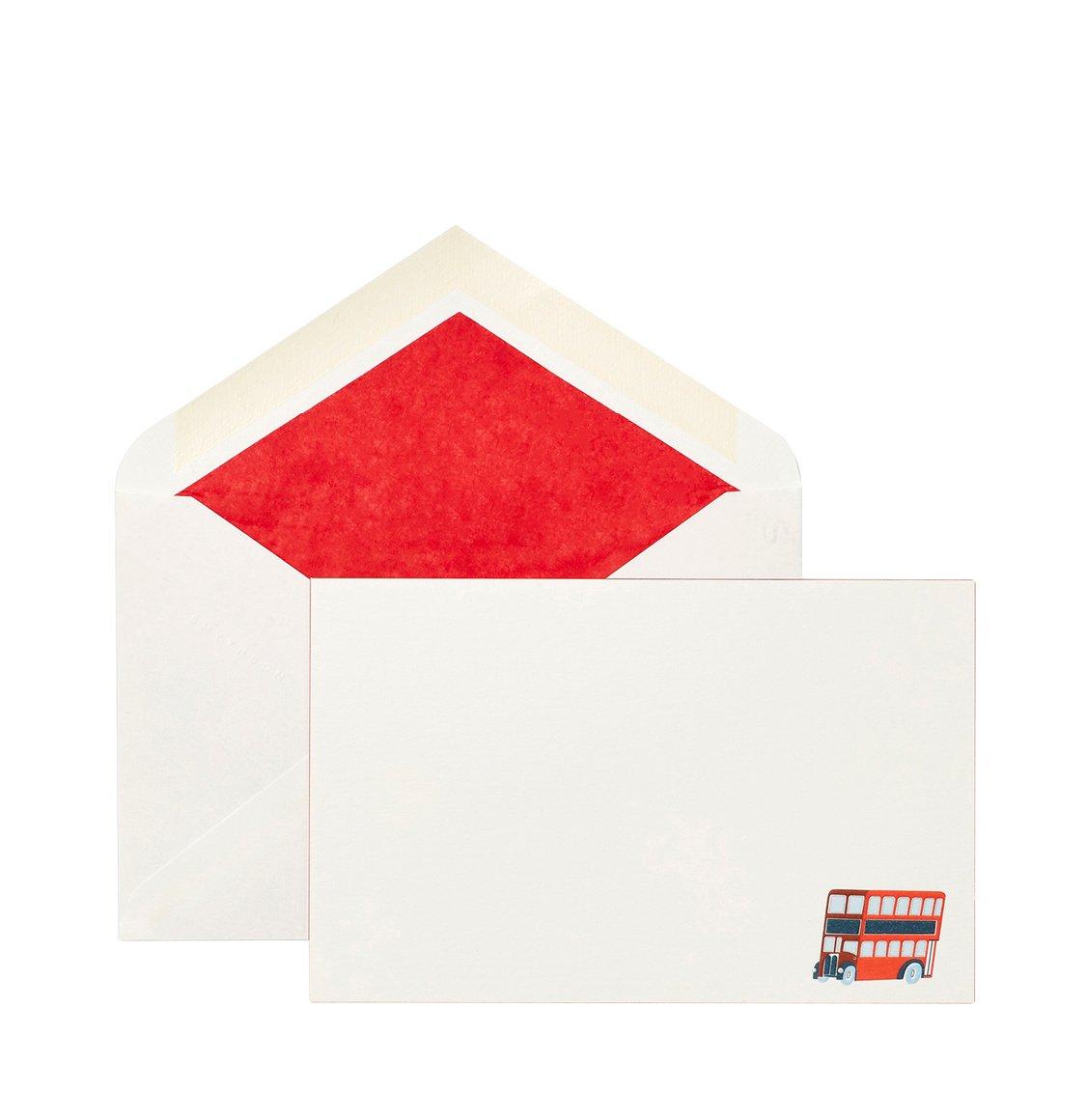 Smythson British Bus Correspondence Cards