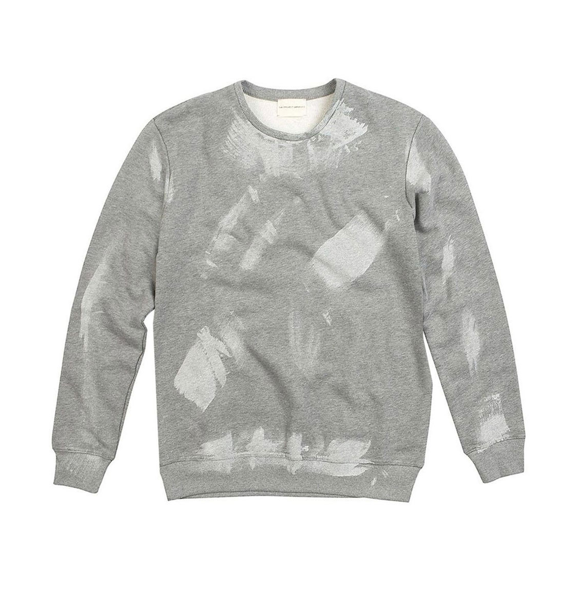 The Project Garments Coated Organic Cotton Sweatshirt Grey