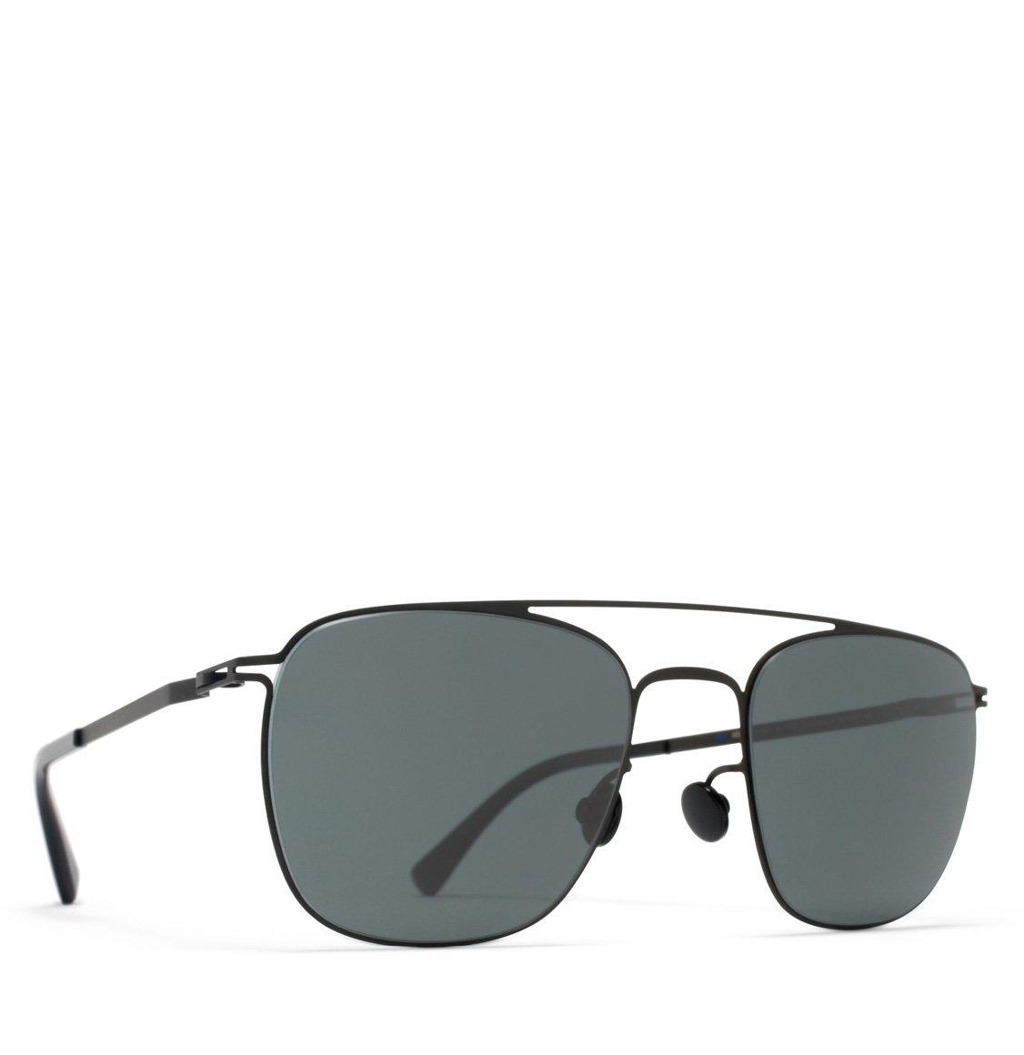 Mykita Aviator-Frame Black Solid Sunglasses