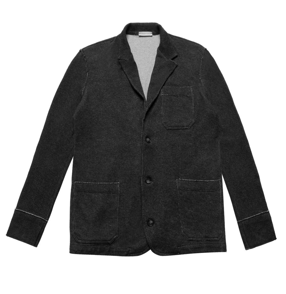 The Project Garments Slim-Fit Wool and Cotton Blend Unstructured Blazer Charcoal