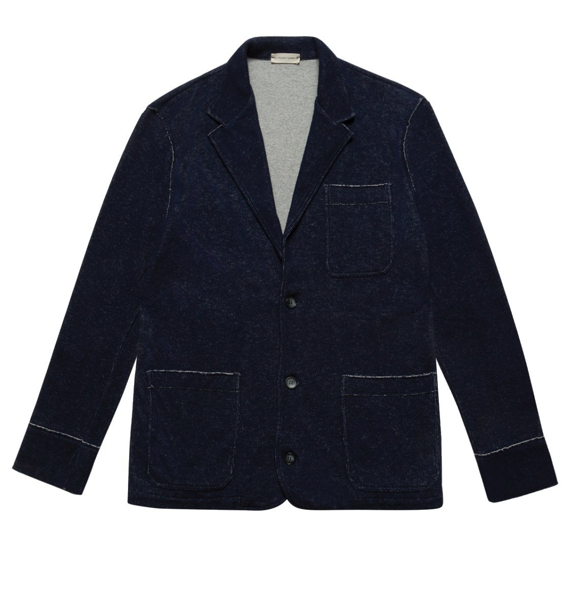 The Project Garments Slim-Fit Wool and Cotton Blend Unstructured Blazer Navy