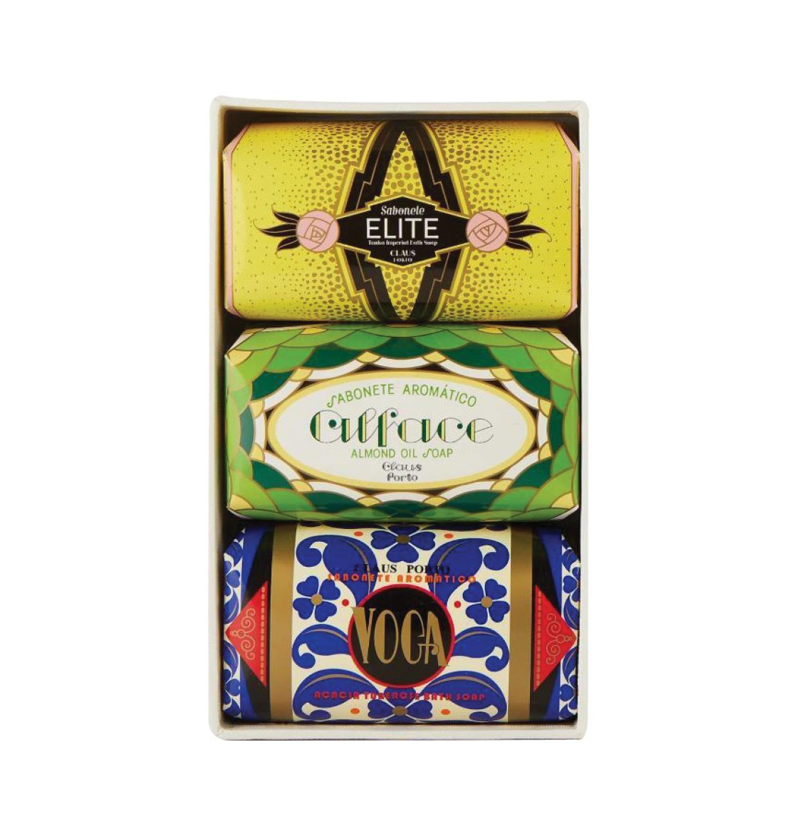 Claus Porto Deco Gift Box Three Soaps 3 x 150g