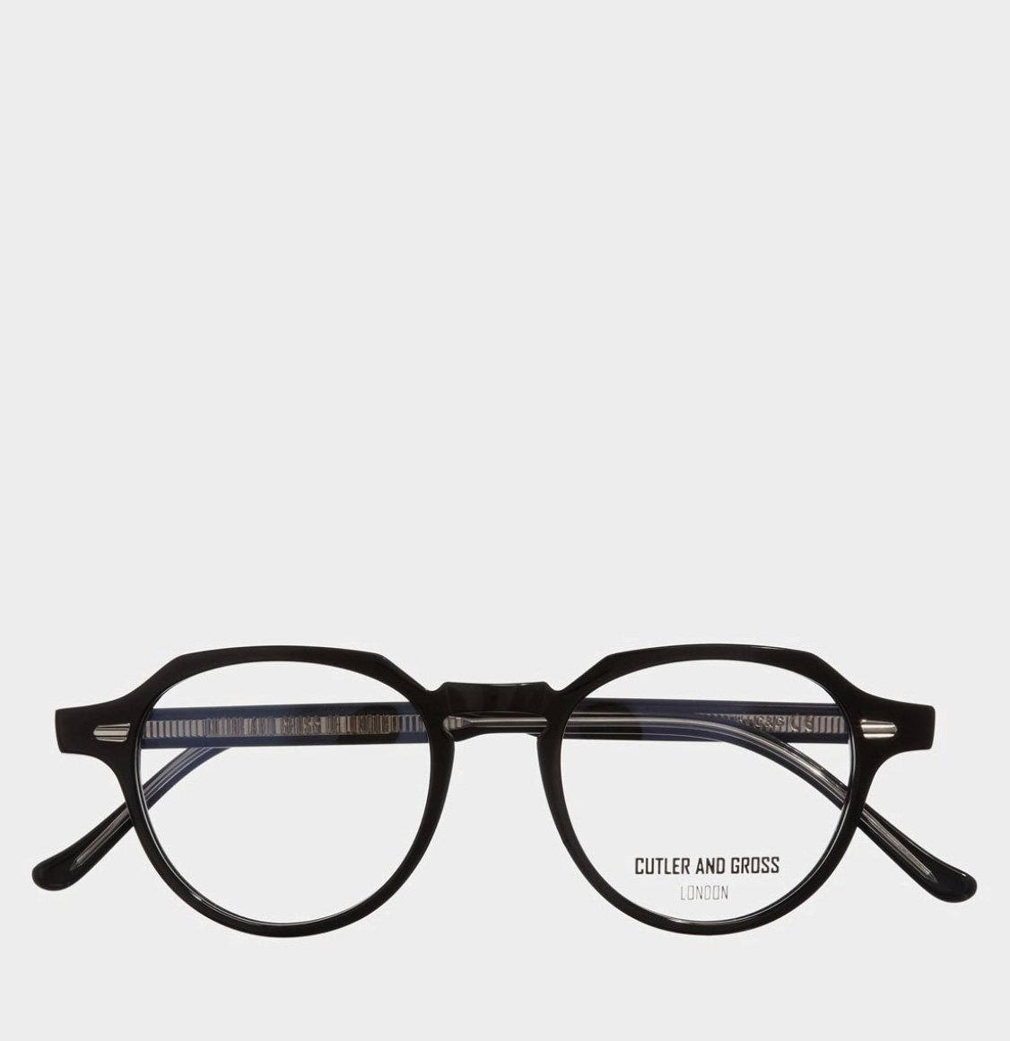 Cutler and Gross Hexagonal-Frame Black Acetate Γυαλιά Οράσεως