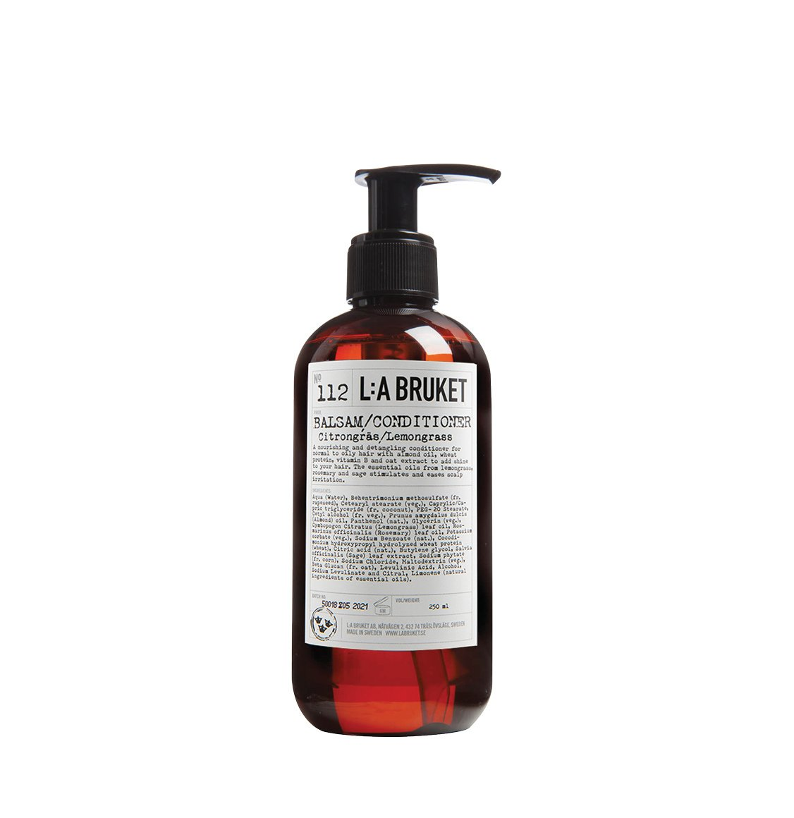 LA Bruket 112 Hair Conditioner Lemongrass 240ml