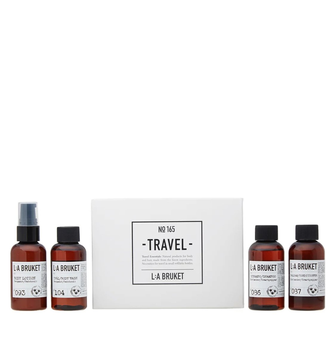 LA Bruket 165 Travel Kit 4 x 60ml