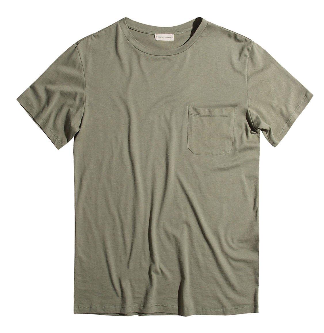 The Project Garments Crew Neck Modal Pocket T-shirt Khaki