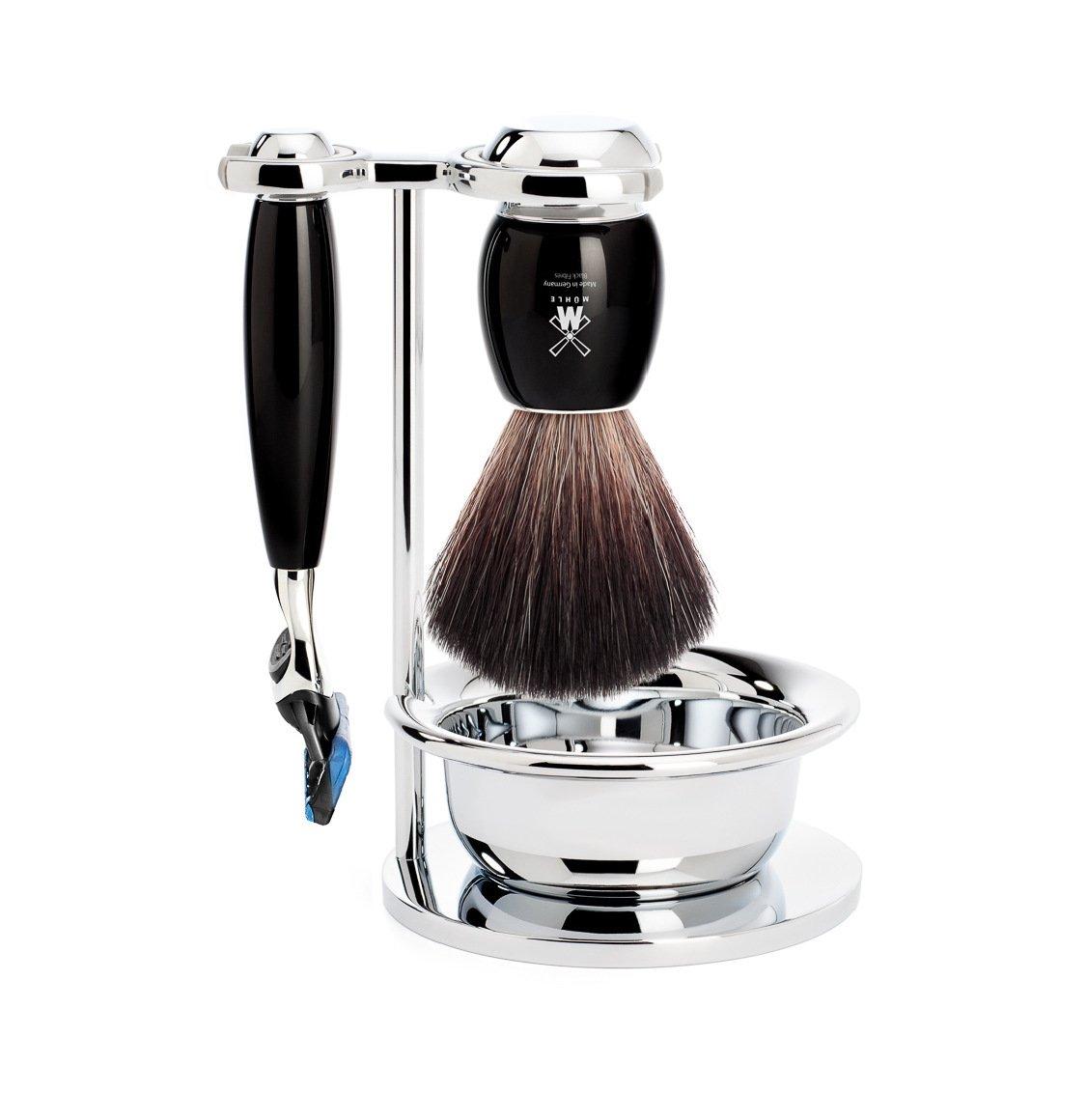 Muhle Black Fibre Brush and Gillette Fusion Blade Razor