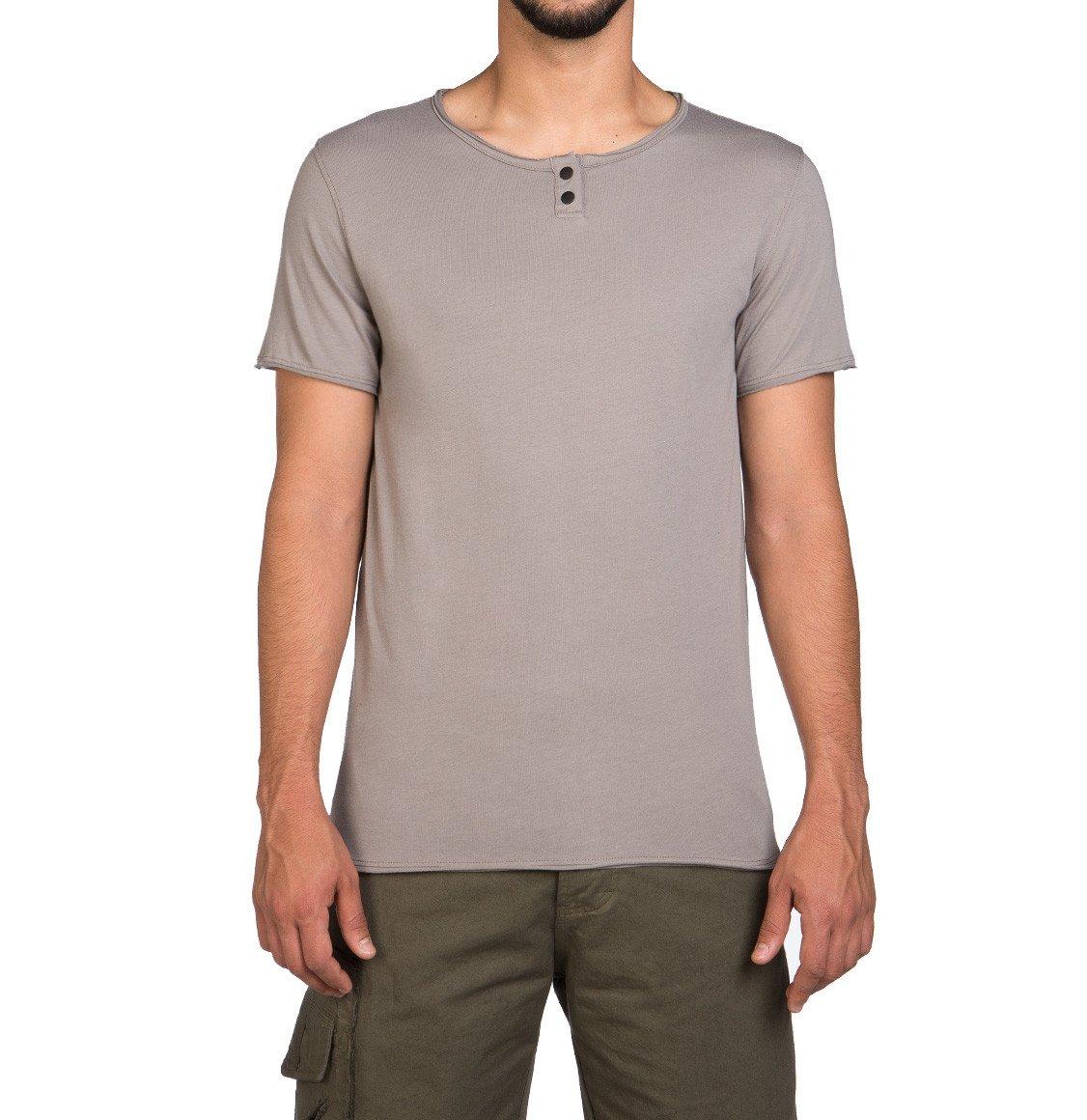 The Project Garments Henley Organic Cotton T-Shirt Grey