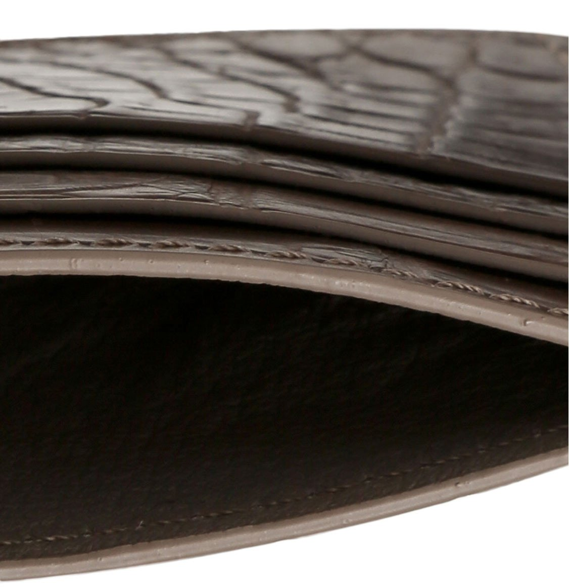 The Project Garments Card Case In Light Brown Alligator Leather