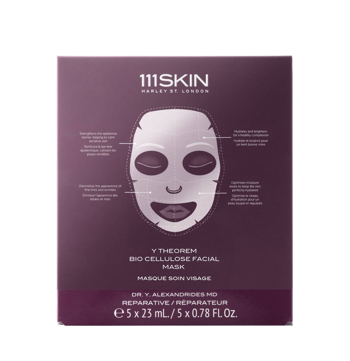 111Skin Y Theorem Bio Cellulose Facial Masks Box 5 x 23ml