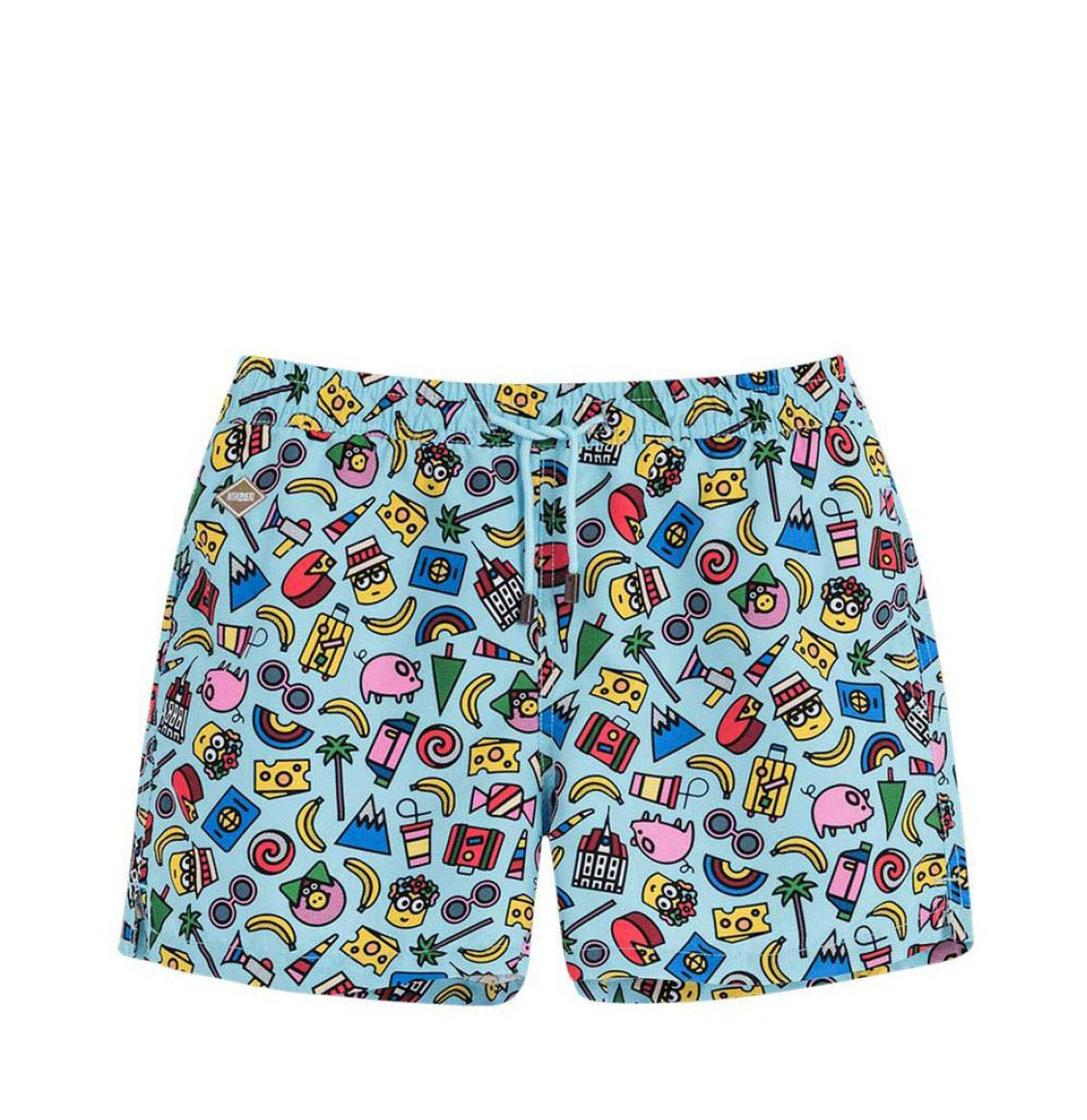 Nikben Minions Swim Shorts Light Blue